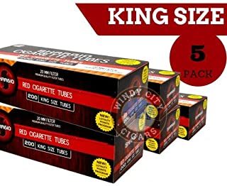 Shargio Full Flavor King Size Cigarette Tubes (200ct) 5 Pack