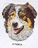 Sewing Embellishments & Finishes 2 1/4 x 2 1/2 Australian Shepherd Dog Embroidery Patch (Great for Towels, Blankets, Pillows, Purses, Backpacks, Jackets)