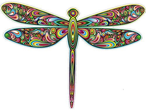UNIQUE BRIGHT Dragonfly - Bumper Sticker/Decal (5' X 4')