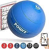 POWRX - Slam Ball Balón Medicinal 3-20 kg - Ideal para Ejercicios de Entrenamiento Funcional - (10 kg/BLU)