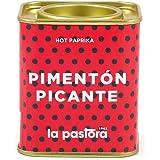 LA PASTORA | Prodotto Gourmet | Paprika Calda | 75 Grammi | 100% Naturale | Paprika in Polvere | Potente Antiossidante | Adatto per Celiaci | Spezia Per Paella | Paprika Spagnola