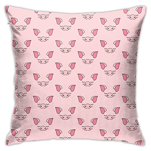 87569dwdsdwd Pink Pigfaceswithout Edgeslilcubby Throw Pillow Cover Pillow Cases for Home Decor Design Cushion Case for Sofa Bedroom Car 18 X 18 Inch 45 X 45 cm