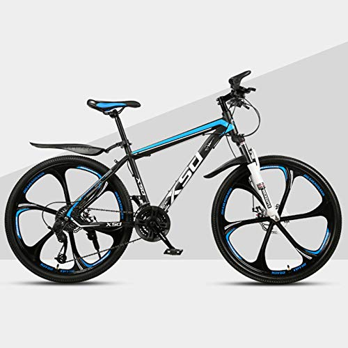WWJL 24 26 Pulgadas de Bicicleta de montaña, Frenos de Disco de suspensión Bicicleta MTB, 21 24 27 Bicicleta MTB de 30 velocidades, para Adultos Unisex,D,27