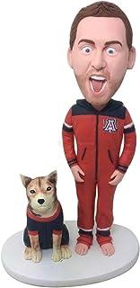 Regalo divertente del ragazzo Arizona Wildcats Bobble Head personalizzato Marito personalizzato Ragazzo fidanzato Regalo d...