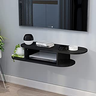 BiJun Floating TV Shelf Entertainment Center Wall Mounted Media Console, Router DVD Stand, for Xbox One/PS4/Cable Box/DVD ...