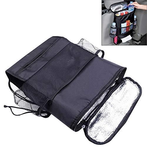 XUJINQI auto-opslag, multi zakken-isolatie, gevoerd met warmte-isolatie, aluminiumfolie voor koude autostoelen achterzijde, opbergzakje, geschikt voor de meeste auto's.