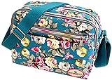 Yeaser - Bolso bandolera de lona para mujer, bolsa de viaje, bolsa de cosméticos de verano, bolsa de playa, 1 unidad (#D)