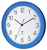 TFA Dostmann 60.3512 controlado por Radio Reloj de Pared con Barrido silencioso Clockwork 300 mm Radio Relojes (Amarillo)
