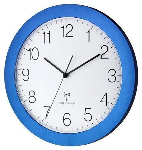 TFA Dostmann 60.3512 Orologio Da Parete Radiocontrollato Con Movimento Silenzioso 300 mm (blu)