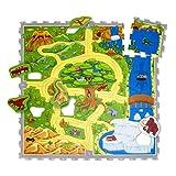 Hakuna Matte Alfombra Infantil Puzzle Diseño Coches 1,2 x 1,2m- 16...