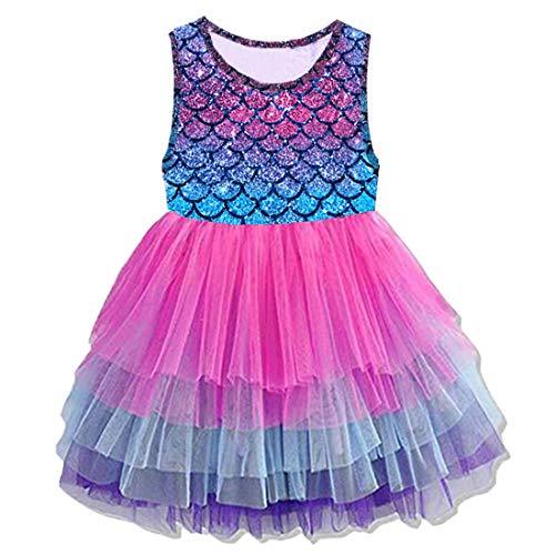 VIKITA Mädchen Kleider Meerjungfrau Prinzessin Tüll Party Hochzeit Kleid SH4594 5T