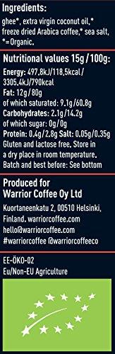 有機インスタントバターコーヒー90g(15g✖6回分)【EUオーガニック認証】お湯に混ぜるだけ!完全無欠コーヒーに!(オリジナル)オフィスや旅先で!