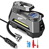 Best Auto Tire Inflators - HAUSBELL Portable air Compressor for Car Tires, 12V Review