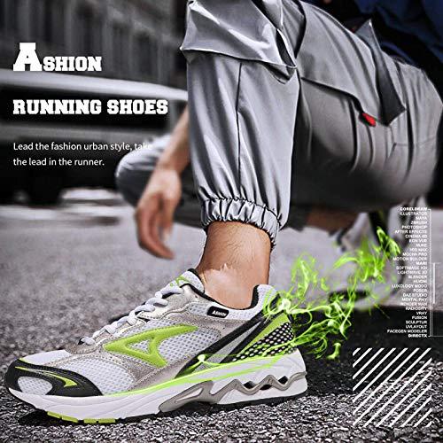Zapatillas Running Hombre Sneakers Running Calzados para Correr en Asfalto para Hombre E-Blanco 39 EU