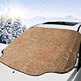 Kejbr Sand Color Front Car Sonnenschutz Frontscheibe Foldable Sun Protection Car Front Window Sonnenschutz Sun Shade for Most Sedans SUV Truck - Auto Sonnenschutz Car Frontscheibe, Keeps Vehicle Cool