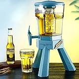 XJYXH Dispensador de Cerveza de Borrador, dispensador de Bebidas de Estilo Europeo, con Tapa de Mano, Anti-Gota y Duradera, Mayor diseño de Capacidad, para Cerveza, Soda, Sidra