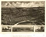 INFINITE PHOTOGRAPHS 1899 Concord New Hampshire, Bird's Eye Map Concord, N.H. 1899. Includes Illus.