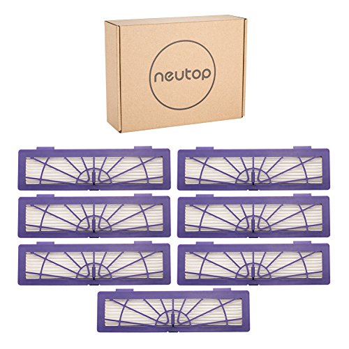 Neutop Filter Replacement for Neato Connected D3 D4 D Series D75 D80 D85 and Botvac Series 65 70e 75 80 85 Robot Vacuum Parts Accessories High Performance, 7-Pack.