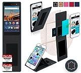 reboon Hülle für General Mobile 4G Tasche Cover Case Bumper | Schwarz Leder | Testsieger