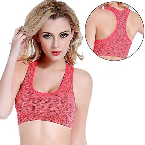 Frauen Sport Yoga BH, Neueste Sommer Sexy Running Gym Workout Weste Crop Tops Shapewear Gepolsterte BHS Kleidung Outfit, B, M.