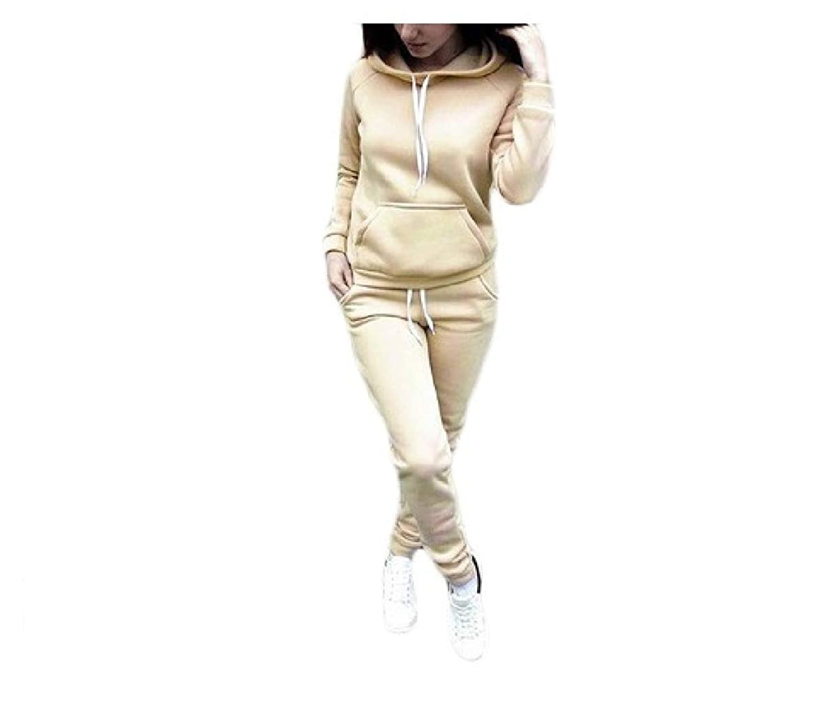 レンダースケルトン中毒AGAING Womens Casual Sweatshirt Hoodie Sport Pocket Two-piece Suit