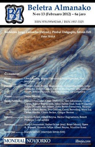 Beletra Almanako 13 (Ba13 - Literaturo En Esperanto) (Esperanto Edition) by Mondial (2012-03-13) (Paperback)