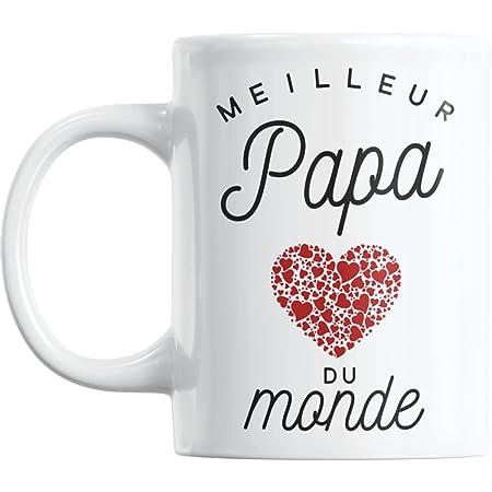 Mug Meilleur Papa du Monde   Cadeau Papa Cadeau Fete Des Peres Mug Cadeau Pour Papa Tasse Papa Ceramike Cadeau Anniversaire Papa Cadeaux Peres Pere Mug Papa Cadeau Papa Cadeau Pour Sa Pere