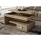 Muebles Baratos Mesa de Centro elevable, Elige Modelo Y Color, ref-19 (Roble Europeo un Cajon)