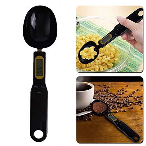 Macabolo Digitale maatlepel, elektronische LCD-keuken weegschaal gewicht volume voedselweegschaal keukengadgets voor het koken zwart