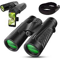 AGWILL 12x42 Prism BAK4 FMC Lens Waterproof HD Binoculars