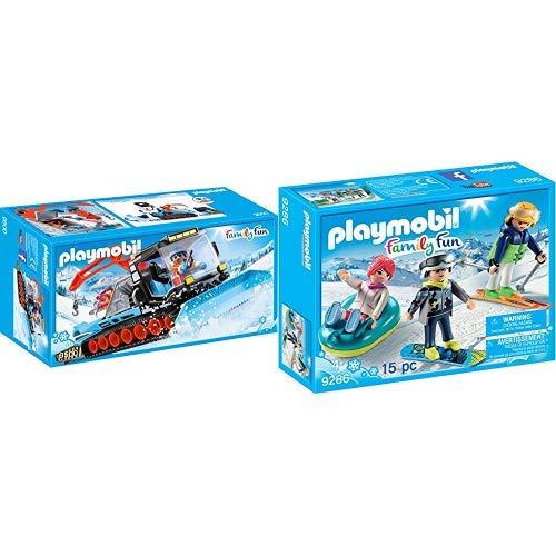 PLAYMOBIL 9500 Spielzeug-Pistenraupe &  9286 - Freizeit-Wintersportler