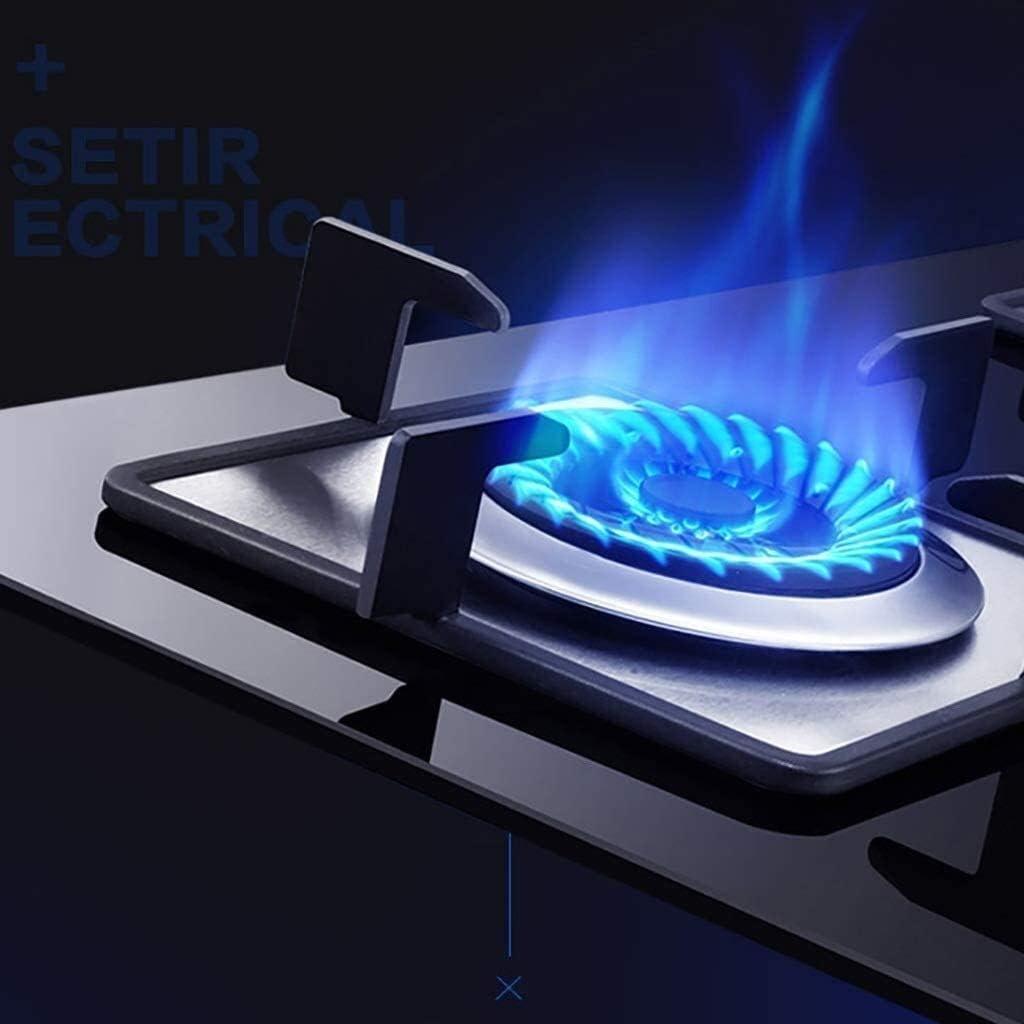 int/égr/é 2 br/ûleurs gaz en verre avec la flamme non protection QIANGQIANG Efficace et durable gaz Hob Cuisini/ère Cuisine Plaques de cuisson Taille: Gaz naturel facile /à nettoyer