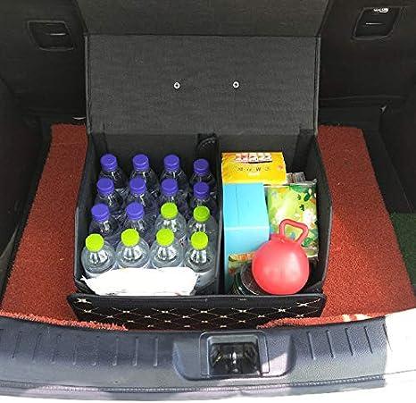 Dheera Car Storage Bag,PU Leather Trunk Organizer Box Bags,Folding Car Trunk Stowing Portable Boxes