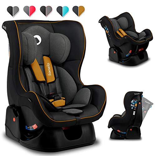 Lionelo Liam Plus Kindersitz ab Geburt 0 bis 18 kg Autositz Gruppe 0 1 zur und gegen die Fahrtrichtung Einstellung der Rückenlehne 5 Punkt Sicherheitsgurte ECE R44 04 (Gelb)