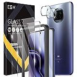 EGV Compatibile con Xiaomi 10i 5G/Xiaomi 10T Lite 5G/Redmi Note 9 Pro 5G Protector de Pantalla,2 Pack Cristal Templado e 2 Pack Protector de Lente de Cámara
