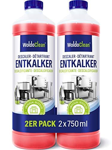 Entkalker 2x 750ml für Kaffeevollautomat mit Farbindikator - mit sämtlichen Marken kompatibel