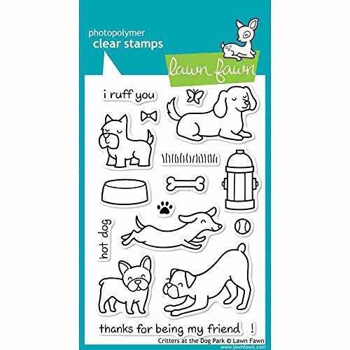 Gazon Fawn duidelijke stempels 10cm x 15cm -Critters bij de hond Park