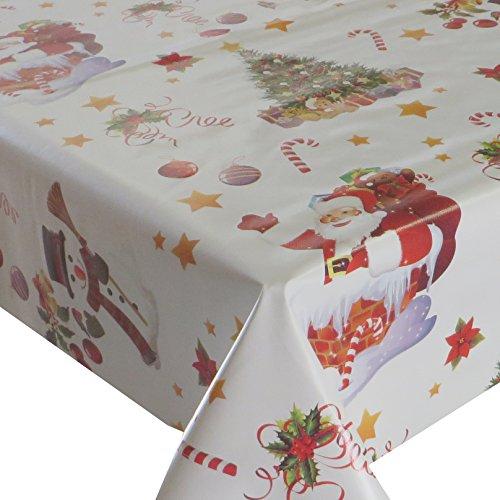 Wachstuch Wachstischdecke Tischdecke Gartentischdecke Weihnachten Zuckerstange Weiß Breite & Länge wählbar 110 x 160 cm Eckig abwaschbar