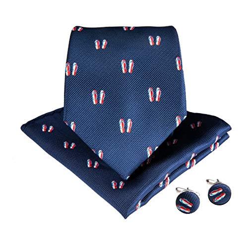 GPZFLGYN Chanclas formales Corbata de tamaño estándar Novio Corbatas de caballero Hombres...