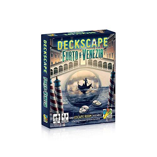 dV Giochi- Deckscape-Furto a Venezia-Una Escape Room Tascabile-Edizione Italiana, Multicolore, DVG4479