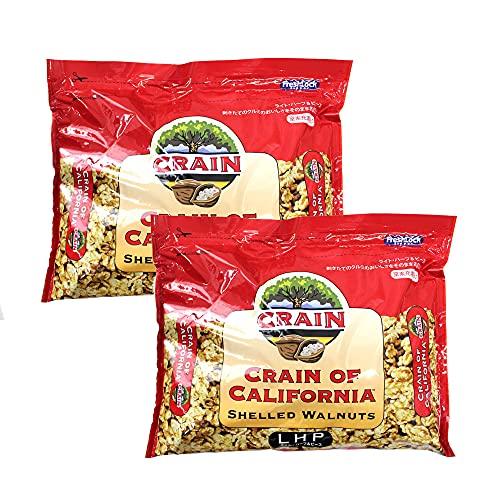 【mamapan】生くるみ クルミLHP 1kg×2(2kg) 無塩タイプ アメリカ カリフォルニア産 チャンドラー種 CRAIN社 チャック袋 窒素ガス充填 フレッシュパック まとめ買い