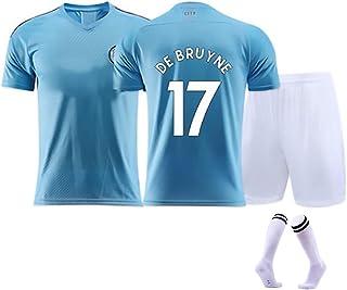 YUUY, YUUY Kevin de Bruyne # 17/7 Jersey de fútbol Adulto/Niño Traje de Entrenamiento Transpirable Deportes Mangas Cortas (Color : C, Size : Adult-M)