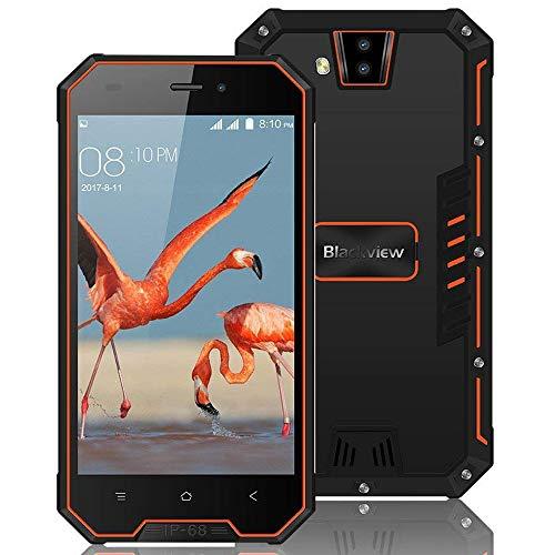 "Telefonos Resistentes, Blackview BV4000 Pro Móvils Antigolpes 4.7"" HD Pantalla, Android 7.0 Doble SIM Teléfono Móvil, Quad Core 2GB+16GB, Batería 3680 mAh, Cámara 2MP+8MP, GPS, WiFi - Negro"