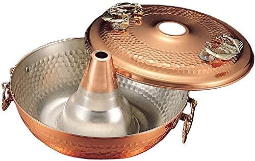 ZOUJUN Antique Copper Arts de la Table en Acier Inoxydable Hot Pot Petit Hot Pot Main Cuivre Hot Pot d'extérieur Poêle Vieux Beijing Chinese Grand Hot Pot 26 * 12cm (Color : A)