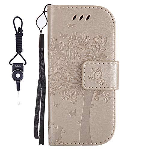 SsHhUu Huawei Honor 7i Hülle, Echt PU Leder Hülle Kartenfach Standfunktion Magnet Ledertasche + Schlüsselband für Huawei Honor 7i (2015) / Huawei Shot X (5.2