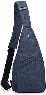 Mens Bag Men Lightweight Canvas Chest Bag Ultra-thin Crossbody Bags Sling Shoulder Backpack Messenger Bag Travel Rucksack for Hiking Cycling Travel High capacity