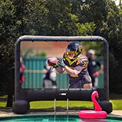 ENJOY THE MOVIE OUTDOORS - Enjoy your favorite films on the big screen anytime with your family and friends in backyard. A nice addition to resorts, outdoor parties, and special events DURABLE MATERIAL - Made of high quality, durable 210D Oxford clot...