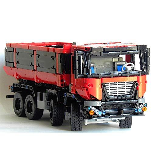 TMIL Technic Ciudad del Camión Volquete Building Blocks Kit, Ladrillos De Construcción Moc Compatible con Lego (1415 + PCS), Ladrillos De Vehículos De Carga Juguetes del Regalo,Nomotor