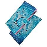 SpiritSun - Custodia per Samsung Galaxy Tab S2 9.7, in pelle, con funzione di supporto, scomparti per carte di credito, colore: blu