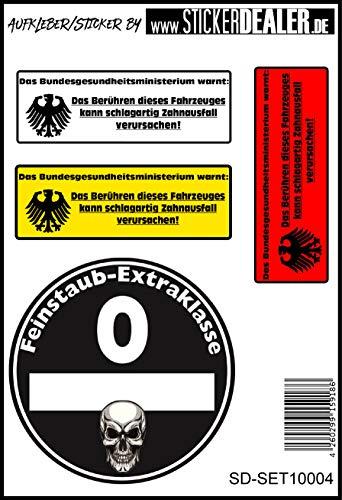 Unbekannt JDM- Aufkleberset Sticker Feinstaub Plakette Fun Lustig